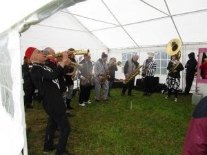 The band kept dry