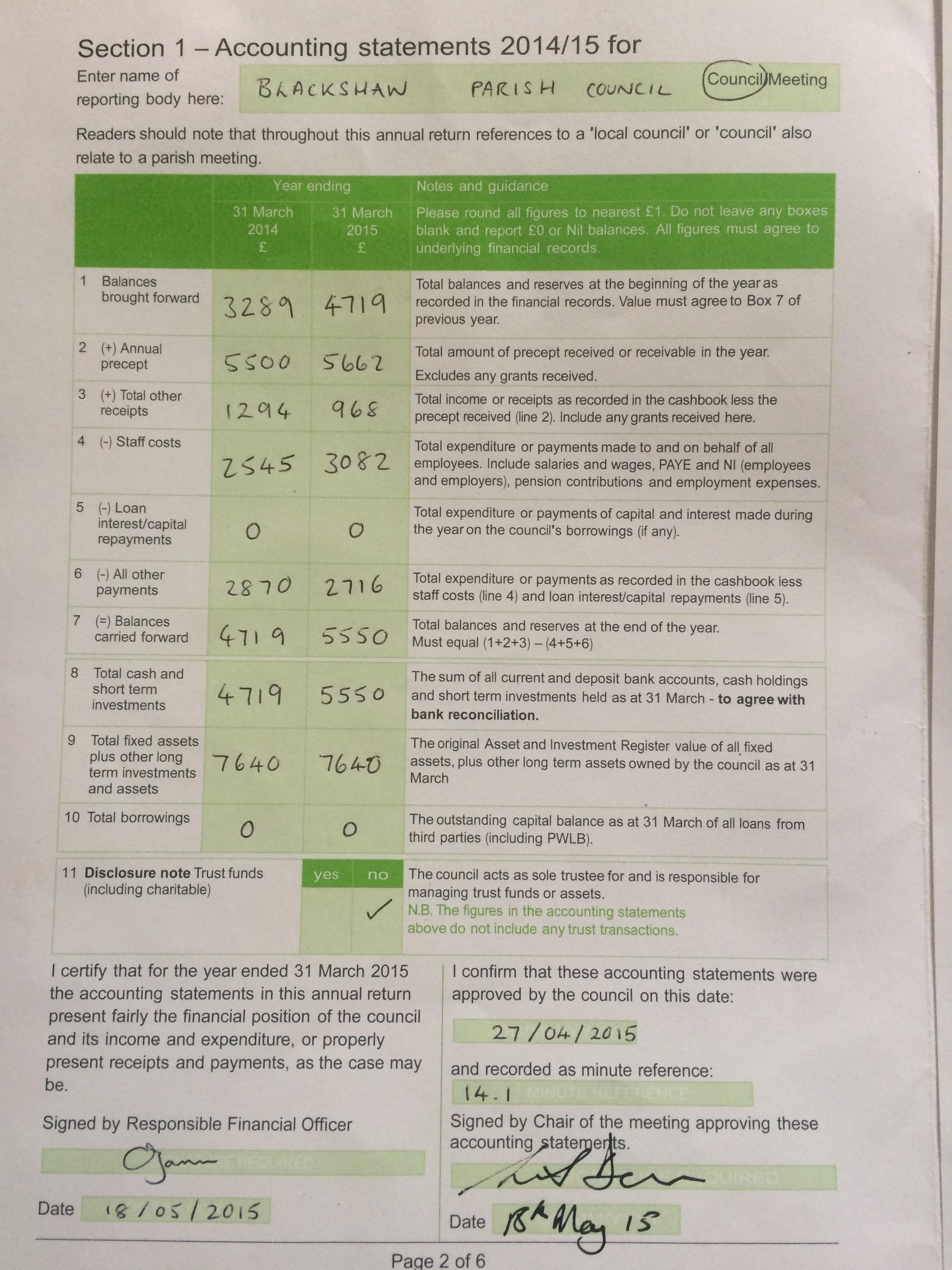 Audit page 1
