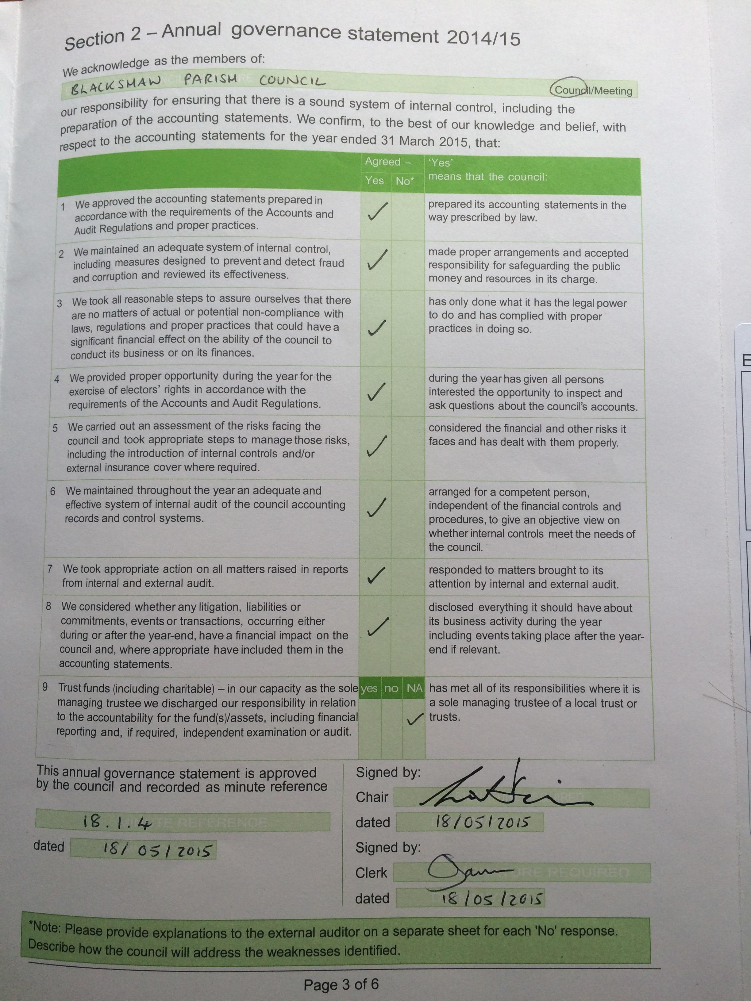Audit page 2